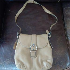 Coach tan purse